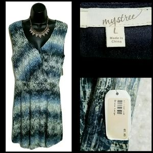 Anthropologie Mystree Marble Sleeveless Dress Sz L